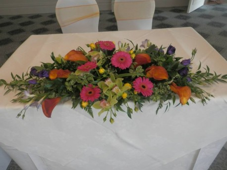 Top table flower display